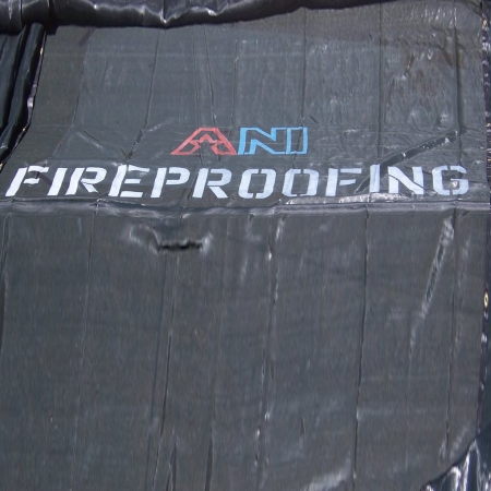 1 Logo Stenciled on a Tarp