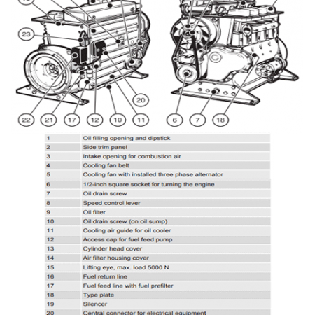 Hatz 2M41z Engine Parts