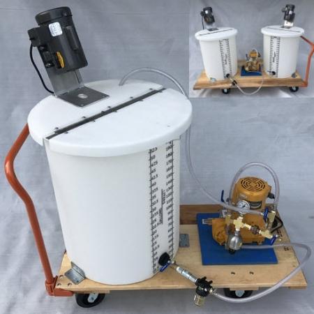 Inline injection pump