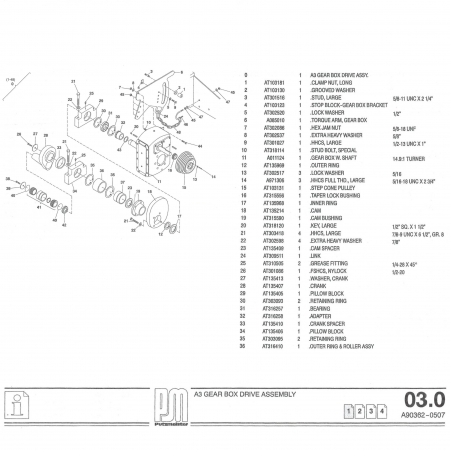 Putzmeister A3 Gear Box Drive Assembly