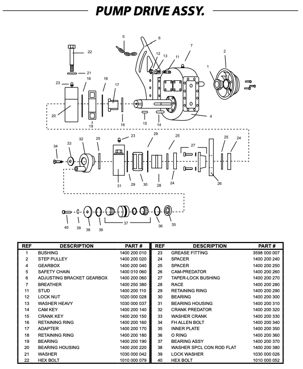 pump drive assembly pdquipment  western pump diagram #15