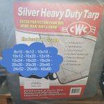 Silver HD 11mil Tarps